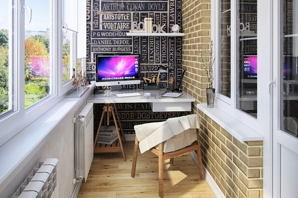 Интерьер комнаты с компьютером - вариации оптимизации простр.