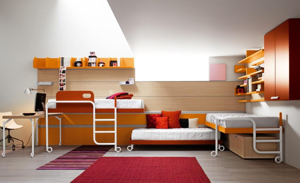 Интересная мебель для детской комнаты в дизайне интерьера